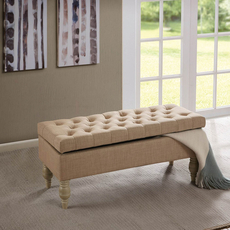 Madison Park Luxe Bench in Roma Travertine