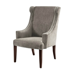 Madison Park Marcel High Back Wing Chair in Elizabeth Platinum