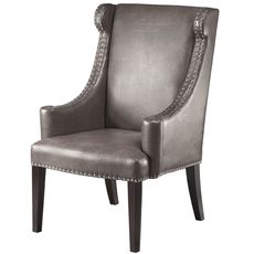 Madison Park Marcel High Back Wing Chair in Mink