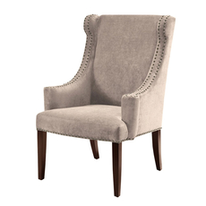 Madison Park Marcel High Back Wing Chair in City Mushroom