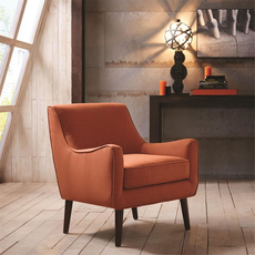 Madison Park Oxford Chair in Everly Cayenne