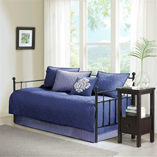 Madison Park Quebec 6 Piece Daybed Set in Navy by JLA Home