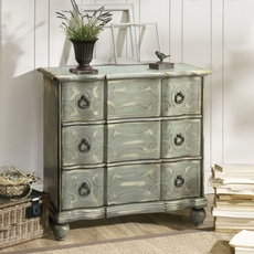 Madison Park Robins Egg Scroll Accent Chest