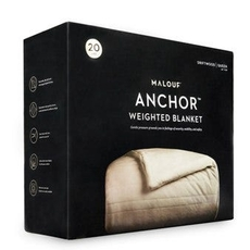 Malouf Anchor 12 lb. Queen Size Weighted Blanket in Driftwood