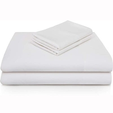 Malouf Bamboo Twin Sheet Set - White