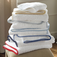 Matouk Whipstitch White Guest Towel