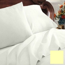 Clearance Mayfield Sheets 200 Thread Count Twin Sheet Set in Ecru OVLB0818068