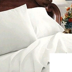 Clearance Mayfield Sheets 200 Thread Count Full Sheet Set in White OVLB0818069