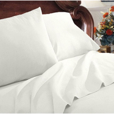 Clearance Mayfield Sheets 300 Thread Count Queen Sheet Set in White OVLB071704