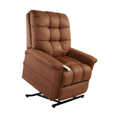 Mega Motion Windermere Birch 3 Position Power Lift Chair Chaise Lounge Recliner in Rust