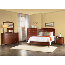 Modus Brighton 5 Piece Low Profile Wood Sleigh Bedroom Set