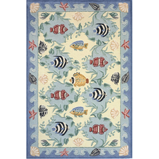 Momeni Coastal 01 Rug in Blue