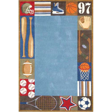 Momeni Lil Mo Whimsy 04 Rug in Denim