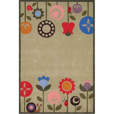 Momeni Lil Mo Whimsy 07 Rug in Grass Green