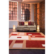 Momeni New Wave 50 Rug in Red