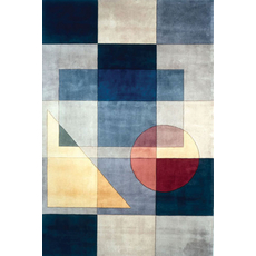 Momeni New Wave 54 Rug in Blue