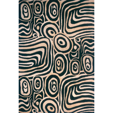 Momeni New Wave 72 Rug in Black