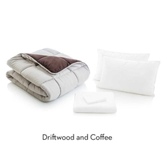 Malouf Woven Full Size Bed in a Bag in Driftwood Coffee