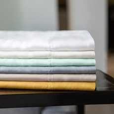 Malouf Woven 300TC Tencel Split King Size Sheet Set in Ecru