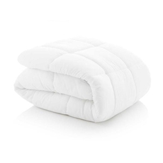 Malouf Woven Down Alternative Microfiber Oversized Queen Size Comforter in White