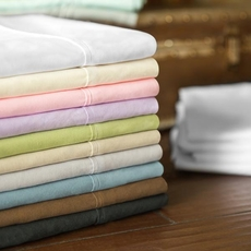 Malouf Woven Microfiber Split King Size Sheet Set in Ivory