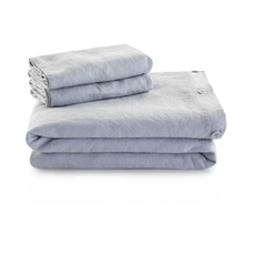 Malouf Woven French Linen King Size Duvet Cover in Charcoal