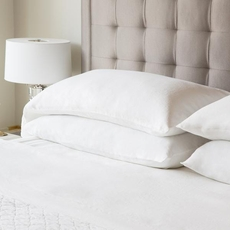 Malouf Woven French Linen King Size Pillowcase Set in Charcoal