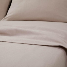 Malouf Woven Portuguese Flannel King Size Pillowcase Set in Oatmeal