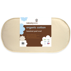 Naturepedic Organic Cotton 13'' x 29'' Oval Bassinet Mattress