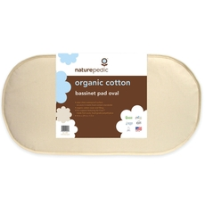 Naturepedic Organic Cotton 14'' x 29'' Oval Bassinet Mattress