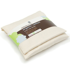 Naturepedic Organic Cotton Sateen Oval Bassinet Fitted Sheet fits Stokke Sleepi in Ivory