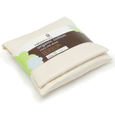 Naturepedic Organic Cotton Sateen Rectangle Cradle Fitted Sheet in Ivory