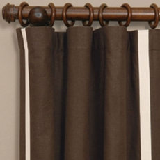 Niche By Eastern Accents Leon Chestnut Curtain Panel