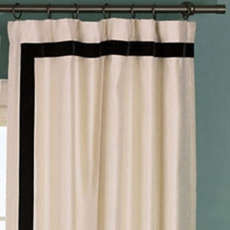 Niche By Eastern Accents Witcoff Ivory Curtain Panel