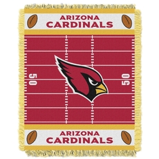 Arizona Cardinals NFL Field Woven Jacquard Baby Throw by Northwest Company