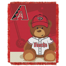 Arizona Diamondbacks MLB Field Bear Woven Jacquard Baby Throw by Northwest Company