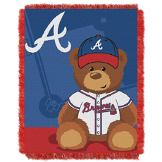 Atlanta Braves MLB Field Bear Woven Jacquard Baby Throw by Northwest Company