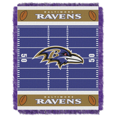 Baltimore Ravens NFL Field Woven Jacquard Baby Throw by Northwest Company
