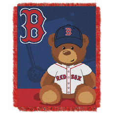 Boston Red Sox MLB Field Bear Woven Jacquard Baby Throw by Northwest Company