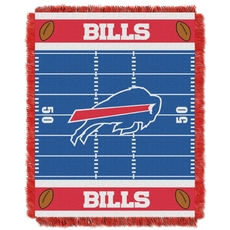 Buffalo Bills NFL Field Woven Jacquard Baby Throw by Northwest Company