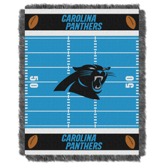 Carolina Panthers NFL Field Woven Jacquard Baby Throw by Northwest Company