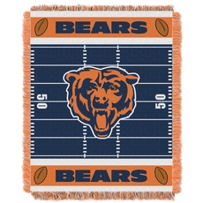 Chicago Bears NFL Field Woven Jacquard Baby Throw by Northwest Company