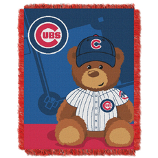 Chicago Cubs MLB Field Bear Woven Jacquard Baby Throw by Northwest Company