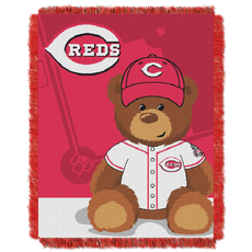 Cincinnati Reds MLB Field Bear Woven Jacquard Baby Throw by Northwest Company