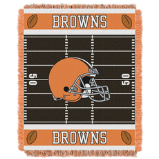 Cleveland Browns NFL Field Woven Jacquard Baby Throw by Northwest Company