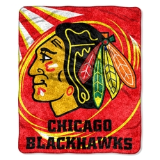 Chicago Blackhawks Sherpa Throw by Northwest Company