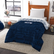 Clearance Seattle Seahawks NFL Anthem Twin Comforter by Northwest Company OVLB0818114
