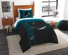 San Jose Sharks NHL Comforter Set by Northwest Company
