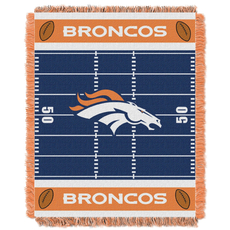 Denver Broncos NFL Field Woven Jacquard Baby Throw by Northwest Company