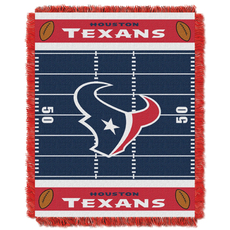 Houston Texans NFL Field Woven Jacquard Baby Throw by Northwest Company